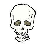 crâne comique de bande dessinée Image libre de droits