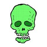 crâne comique de bande dessinée Images libres de droits
