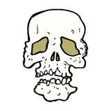 crâne comique de bande dessinée Image stock