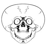 Crâne criard Photo stock