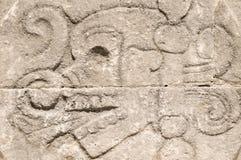 Crâne découpé par Aztèque images stock