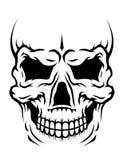 Crâne d'être humain de danger illustration stock
