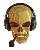 Crâne d'or Photo libre de droits