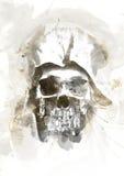 Crâne d'aquarelle Photos stock