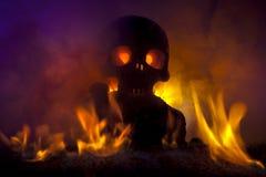 Crâne d'enfer photo libre de droits