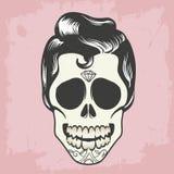 Crâne d'hommes avec des cheveux Photos libres de droits