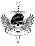 Crâne dans le béret Photo libre de droits