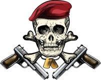 Crâne dans le béret Photographie stock libre de droits