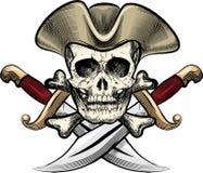 Crâne dans le chapeau illustration libre de droits