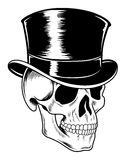 Crâne dans le chapeau de cylindre Photographie stock