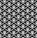 Crâne dans le noir Photo libre de droits