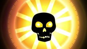 Crâne de animation de Halloween