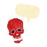 crâne de bande dessinée avec la bulle de la parole Photos libres de droits