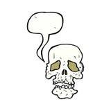 crâne de bande dessinée avec la bulle de la parole Photographie stock libre de droits