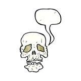 crâne de bande dessinée avec la bulle de la parole Photographie stock