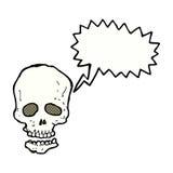crâne de bande dessinée avec la bulle de la parole Photo libre de droits