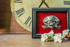 Crâne de cadres de tableau Photo stock