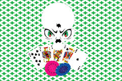 Crâne de casino Photo libre de droits