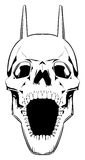 Crâne de démon. Images stock