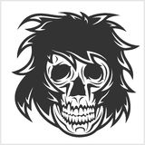Crâne de démon sur le blanc illustration de vecteur