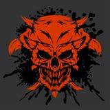 Crâne de démon sur le blanc illustration libre de droits