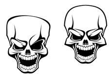 Crâne de danger illustration stock