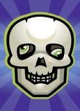 Crâne de dessin animé illustration stock
