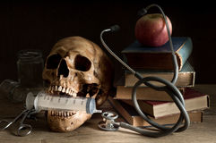 Crâne de docteur Images libres de droits