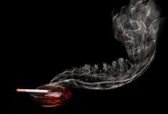 Crâne de fumée Photographie stock libre de droits