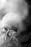 Crâne de fumage Photo libre de droits