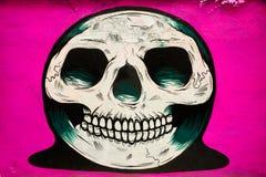 Crâne de graffiti Photos libres de droits