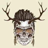 Crâne de hippie d'humain Photos libres de droits