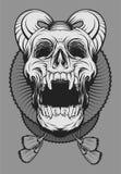 Crâne de joker de diable illustration stock