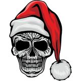 Crâne de Noël illustration libre de droits