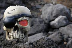 Crâne de pirate Photographie stock