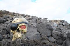 Crâne de pirate Photo libre de droits