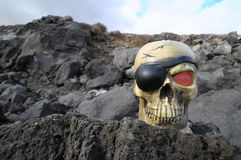 Crâne de pirate Image libre de droits