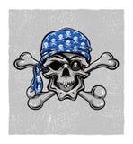 Crâne de pirate. Tiré par la main. Vecteur eps8 Image libre de droits