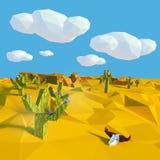 Crâne de vache dans le désert sec illustration libre de droits