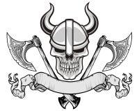 Crâne de Viking illustration de vecteur