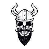 Crâne de Viking Warrior Vector Illustration Photographie stock libre de droits