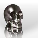crâne du chrome 3D Photos stock