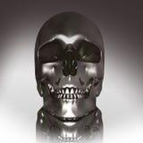 crâne du chrome 3D Photo libre de droits