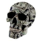 Crâne du dollar Photo libre de droits