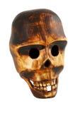 crâne en bois Images libres de droits