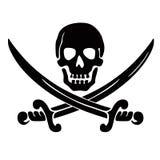 Crâne et épées Images libres de droits