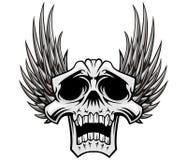 Crâne et ailes illustration stock