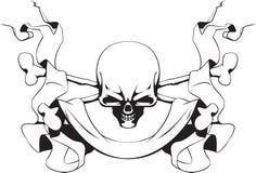 Crâne et bande illustration libre de droits