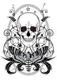 Crâne et guindineau Photo stock
