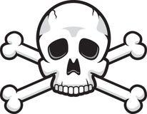 Crâne et os croisés Photo stock